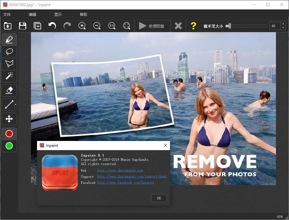 Teorex Inpaint 9.0/8.1 Win/Mac 多语言中文注册版-图片去水印工具