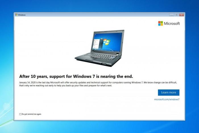 """从本周开始,Windows 7专业版用户开始收到""""死亡通知"""":2020年1月14日结束支持"""