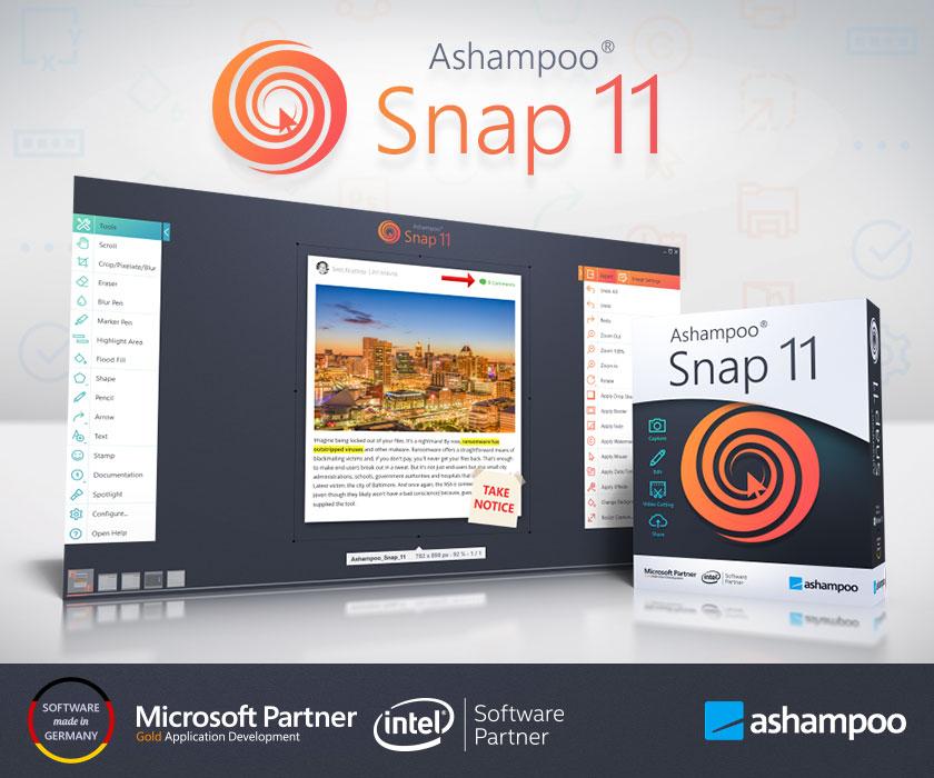 Ashampoo Snap v11.1 多语言中文注册版-屏幕截图和视频录制工具