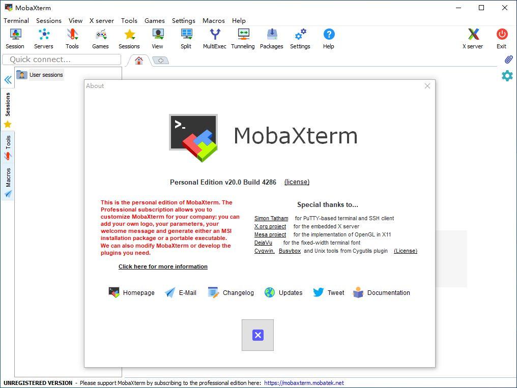 MobaXterm Professional v20.3 注册版-全功能SSH/X远程客户端
