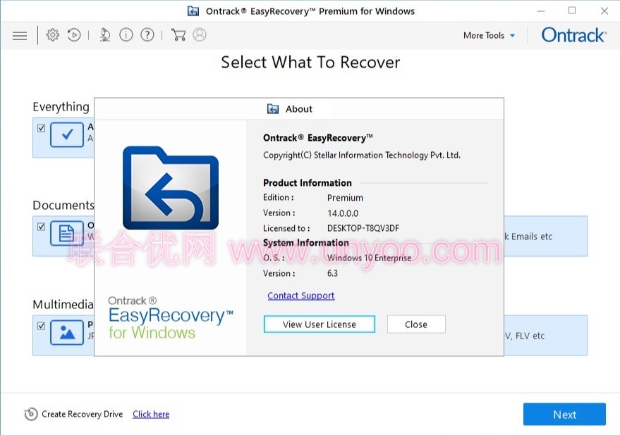 Ontrack EasyRecovery Professional / Technician / Premium /Toolkit v14.0.0.0 注册版