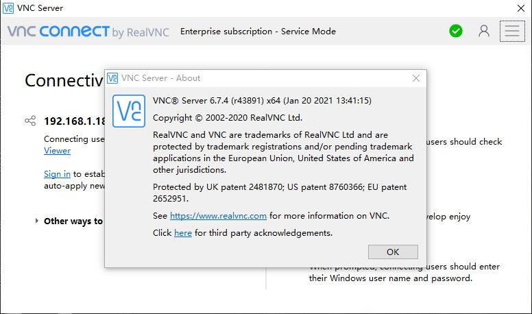 VNC Server v6.7.4+VNC Viewer v6.20.529 注册版附Key-VNC远程控制软件