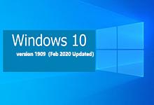 Windows 10 version 1909(February 2020 Update)19H2 MSDN正式版ISO镜像-简体中文/繁体中文/英文-亚洲在线