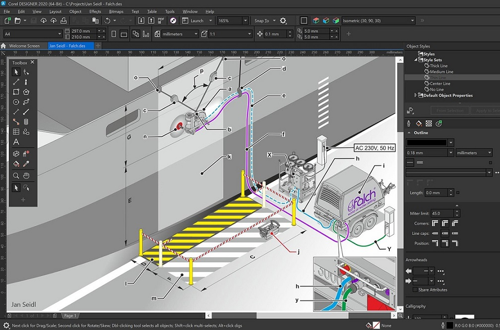 CorelDRAW Technical Suite 2020 v22.2.0.532 Retail 多语言中文注册版