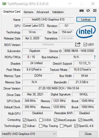 GPU-Z v2.41.0 正式版-显卡检测工具-可识别大批新显卡