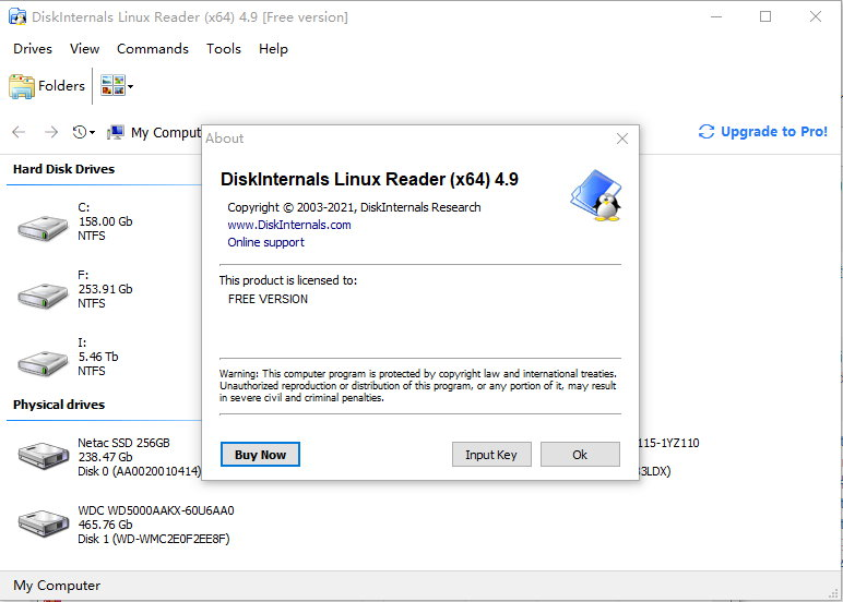 DiskInternals Linux Reader v4.9.0.0 - Linux磁盘文件访问必备