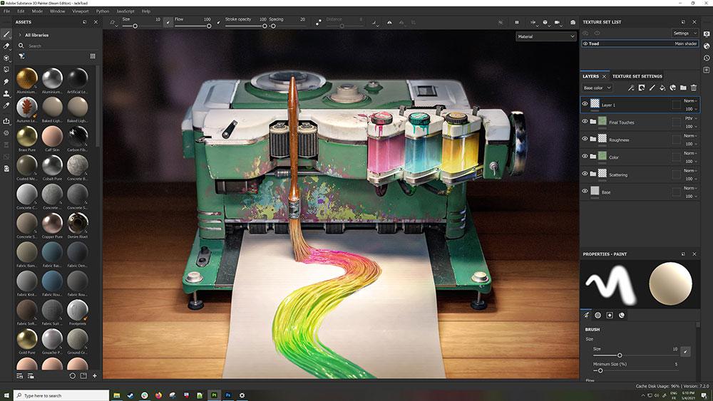 Adobe Substance Painter v7.2.1.1120 正式注册版-3D绘制软件